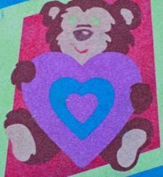 SandArt Bear with Heart